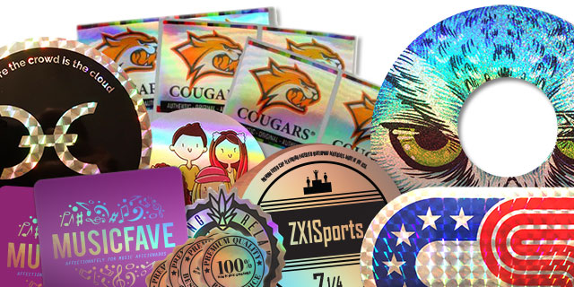 INTEGRAF Custom Promotional Hologram Stickers - Custom vinyl stickers for promotion