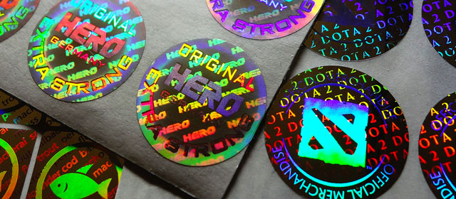 Hologram stickers with custom logo