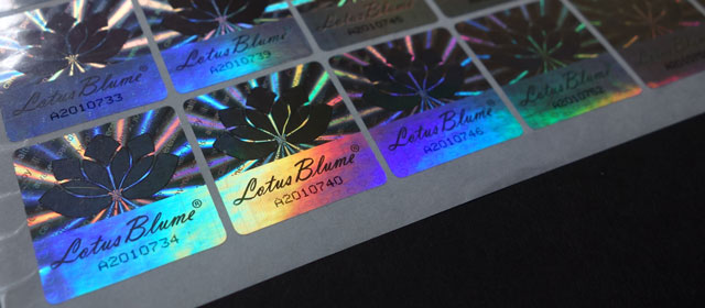 Hologram stickers with serial numbering