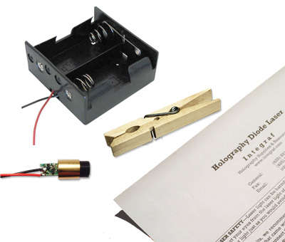 Integraf holography diode laser with battery holders