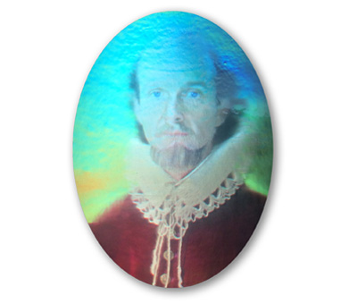 Shakespeare animated color embossed hologram