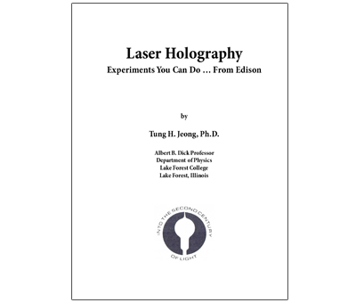 Jeong - Laser Holography Experiments You Can Do