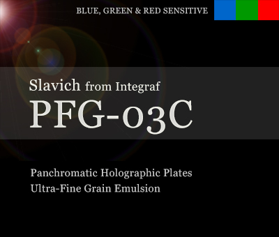 PFG-03c full color resolution holographic plates