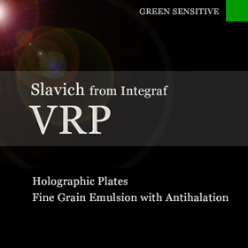 VRP holographic plates with antihalation