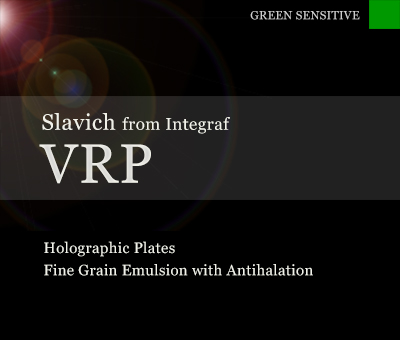VRP holographic film plates with anti-halation